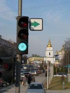 Traffic light 200mm (Myhailivska sq.)