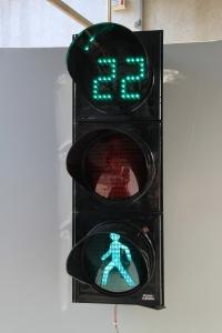 Пішохідний світлофор з відліком часу